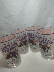 Lot Of 4 Frosted Kentucky Derby Mint Julep Souvenir Glasses May 7,1994 Derby 120