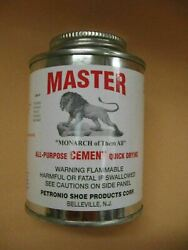 Master All Purpose Cement 8 Oz Brush In Can - Contact Cement- Shoe Repair Glue