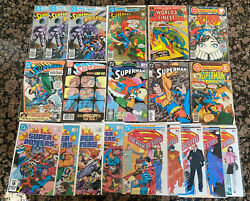 Vintage Superman Copper And Bronze Age Lot Of 20 Dc Comics 1979-1988 Vg/fn/nm