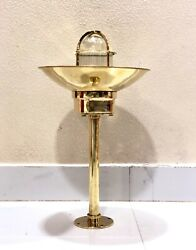 Authentic Nautical Antique Old Ship Brass Bulkhead Mount Light With Shade Lot 10