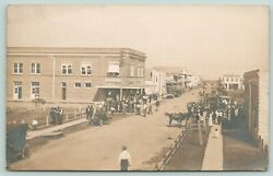 Blessing Texasbusy Main Streetlove And Cobb Implement Cocity Cafecar1912 Rppc