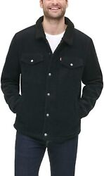 Leviand039s Menand039s Corduroy Sherpa Lined Trucker Jacket Standard And Big And Tall