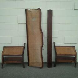 Antique Mahogany Cane Couch Pieces Solid Wood For Repair And Refurbishment