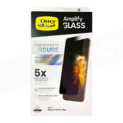 Otterbox Amplify Antimicrobial Privacy Screen Protector For Iphone 12 Series New