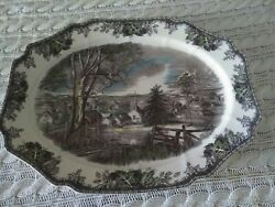 Johnson Brothers The Friendly Village Huge Turkey Holiday Serving Platter Exc