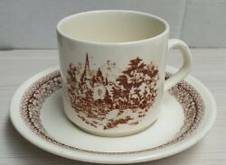Vintage Crown Lynn Heritage Pattern Cup And Saucer Made In New Zealand C1981-88
