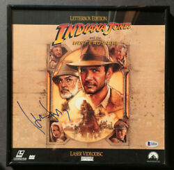 Harrison Ford Indiana Jones Autographed Laser Disc Beckett Certified