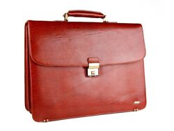 Diplomat Briefcase Leather Man Red Vintage Organizer Business Directory