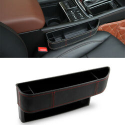 Black Car Right Seat Gap Storage Box Organizer For Cellphones Wallets Cards Coin