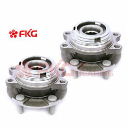 Pair 2 New Front Wheel Bearing Hub 5 Lug For Nissan Murano Altima W/abs 513338
