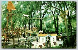 Silver Springs Fltommy Bartlettand039s Deer Ranchgoat Tree And Swinging Bridge1960s