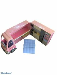 2006 Barbie Hot Tub Party Bus With Sound And Lights Camper Rv Mattel