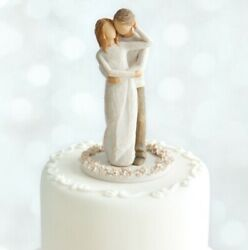Together Cake Topper Figure Sculpture Hand Painting Willow Tree By Susan Lord