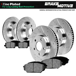 For 2001 - 2005 325xi E46 Front And Rear Drill Slot Brake Rotors And Metallic Pads
