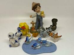 Collection Of Miniature Ducks – Glass, Ceramic, Metal–pieces By Goebel And Homco