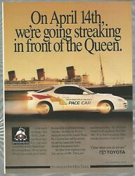 1991 Toyota Celica Advertisement, Long Beach Grand Prix Pace Car, Queen Mary