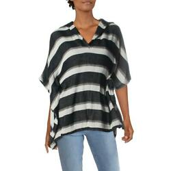 Solid amp; Striped Womens The Beach Navy Poncho Swim Top Cover Up O S BHFO 6128 $48.60