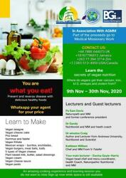 Vegan Cooking And Nutrition Class On Zoom