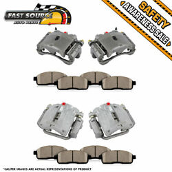 Front Rear Brake Calipers And Pads For 2003 - 2006 Chevy Silverado Gmc Sierra 1500