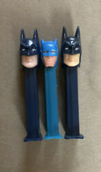Vintage Batman Lot 1985 And 1995 Pez Dispensers Great Condition + Free Shipping