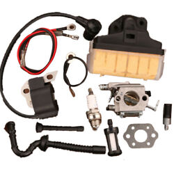 Carburetor Ignition Coil Air Filter For Stihl Ms250c 021 023 025 Chainsaw Wt-286
