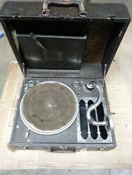 Vintage Silvertone Deluxe Hand Cranked Record Player - Parts Or Repair