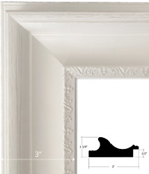 West Frames Stella Cottage French Shabby Ornate White Wall Picture Frame 3 Wide