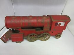 Vintage Very Old Tin Toy Locomotive Toy Good Collectible Condition M-576
