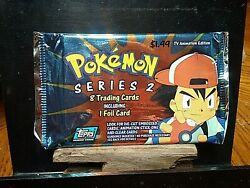 Unopened Pokemon Series 2 8 Trading Cards Including 1 Foil Card Topps 2000
