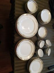 58 Pc. Antique Noritake Ybry Pattern Circa 1920and039s Made In Japan Vgc