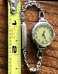 A amp; Z AZIUM WATCH VINTAGE FOR PARTS OR REPAIR It Runs Small Size 5""
