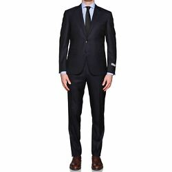 Canali 1934 Blue Wool Super 150and039s Business Suit New Current Model