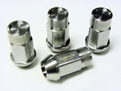 20 Closed End Stainless Steel Drag Racing Lug Nuts 14x1.5 For 2015 + Mustang