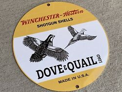 Winchester Ammunition Hunting Gun Vintage Style Round Metal Sign Dove Quail