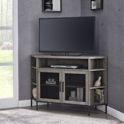 Manor Park Industrial Corner Tv Console For Tvs Up To 52 - Grey Wash