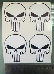Tp The Punisher Logo Decals / Stickers 4 Stickers 50mm X 70mm /1095