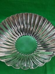Vintage Reed And Barton Silver Plate Pedestal Shell Bowl Scalloped Rim 1851