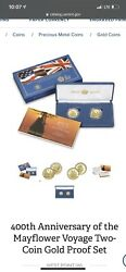 2020 400th Anniversary Of Mayflower Gold Reverse Proof Coin Set Confirmed