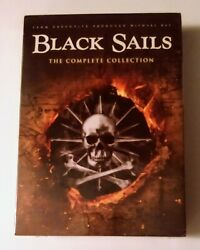NEW BLACK SAILS. THE COMPLETE SERIES COLLECTION 1 4. 12 DVD BOX SET. FREE SHIP