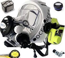 Ocean Reef Neptune Space G.divers Full Gsm Radio Coms Diving Mask Sm Wh Package