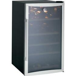 Ge Gvs04bdwss 19 Beverage Center 109-can/31-bottle, 5 Wood Rack Stainless Steel