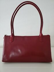 """Hobo red leather bag purse zip closure 12""""x7"""". $69.50"""