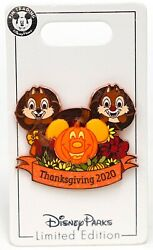 New Disney Parks Thanksgiving 2020 Chip amp; Dale Mickey Pumpkin Pin LE 5000 $26.95