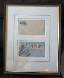 Civil War Envelopes - Beautifully Matted And Framed Under Glass