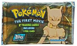 The First Movie Topps Trading Cards Booster Pack Sealed Pokemon H8y