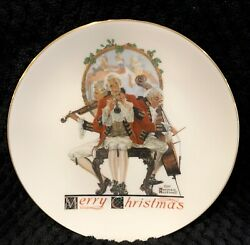 Norman Rockwell Christmas Medley China Plate1984 By Gorham Coa
