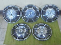 66 67 68 69 Chevrolet Corvair Hub Caps 13 Set Of 5 Chevy Wheel Covers Hubcaps
