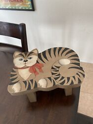 Vintage Cat Stool. Hand Crafted