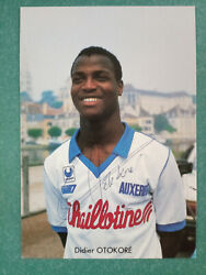 ❤ Aj Auxerreand0391905 Players And Managers-hand Signed Cards And Photos