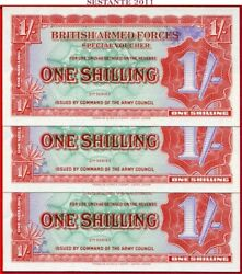 Com Great Britain - British Armed Forces 1 Shilling 1948 - 3 Notes - M18a Unc